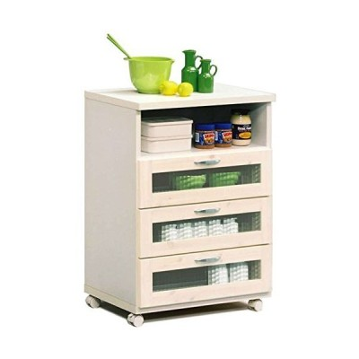 幅60cmキッチンカウンター ホワイト 白色 日本製 完成品 大川家具 食器棚 キッチン 収納 キッチンワゴン キッチ