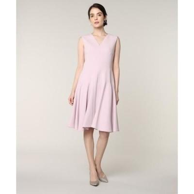 ef-de / エフデ 《M Maglie le cassetto》Vネック切り替えドレス