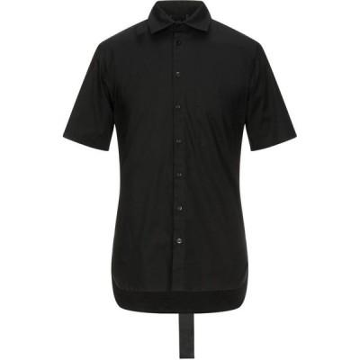 ダークレーベル DARK LABEL メンズ シャツ トップス solid color shirt Black