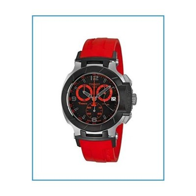 新品Tissot Men's T0484172705702 T-Race Two-Tone Stainless Steel Watch with Red Rubber Band【並行輸入品】