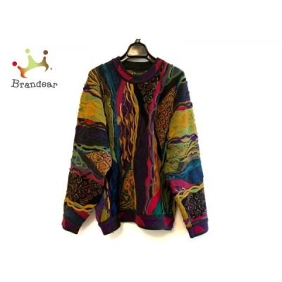 クージー COOGI/CUGGI 長袖セーター サイズS レディース - 黒×イエロー×マルチ クルーネック 新着 20200625