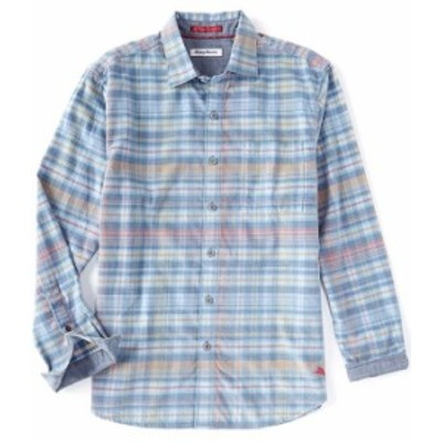 トッミーバハマ メンズ シャツ トップス Kawani Bay Corduroy Long-Sleeve Woven Shirt Dutch Blue