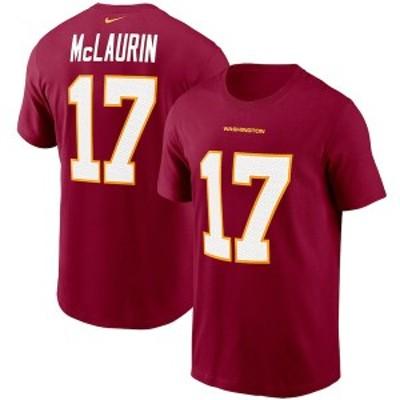 ナイキ メンズ Tシャツ トップス Terry McLaurin Washington Football Team Nike Player Name & Number T-Shirt Burgundy