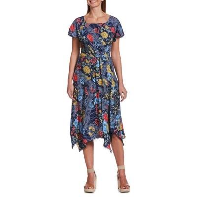 ラファエラ レディース ワンピース トップス Floral-Print A-Line Dress Mediterranean Multi