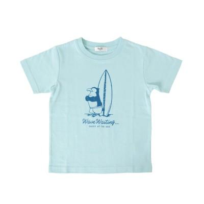 【グラソス】 天竺・プリント半袖Tシャツ キッズ ライト ブルー 130cm GLAZOS