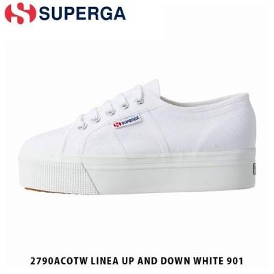 SUPERGA スペルガ レディース スニーカー 2790ACOTW LINEA UP AND DOWN 厚底 シューズ キャンバス ホワイト 白 S0001L0 S0001L0901 国内正規品