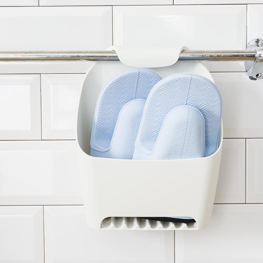 *簡約掛式衛浴收納盒-白