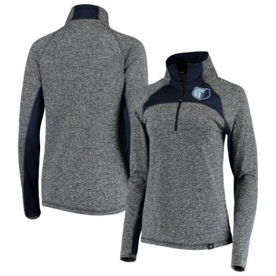 レディース スポーツリーグ バスケットボール Memphis Grizzlies Fanatics Branded Women's Static Quarter-Zip Pullover Jacket - Heathe