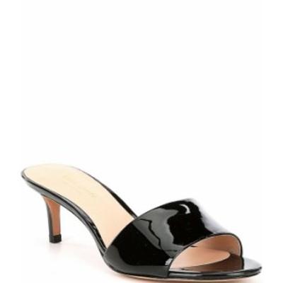 ケイトスペード レディース サンダル シューズ Savvi Patent Leather Dress Sandals Black