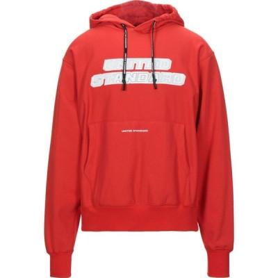 ユナイテッド スタンダード UNITED STANDARD メンズ スウェット・トレーナー トップス Hooded Sweatshirt Red