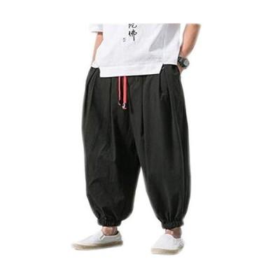WSAPI サルエルパンツ メンズ ワイドパンツ ガウチョパンツ 無地 夏服 タイパンツ 動きやすい 涼しい カジュアル ゆったり 大きいサ