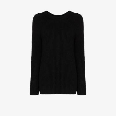 ヘルムート ラング Helmut Lang レディース ニット・セーター トップス Ghost rib knit sweater black