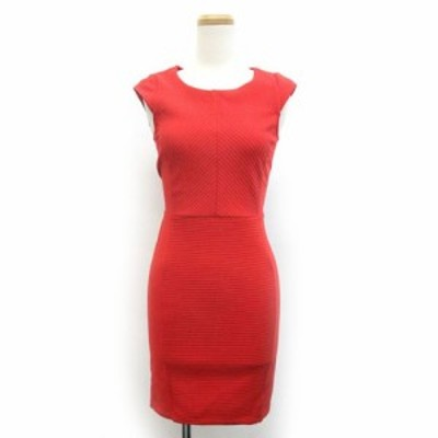 【中古】エイチ&エム H&M ワンピース ドレス タイト スカート XS 赤 レッド /ZB レディース