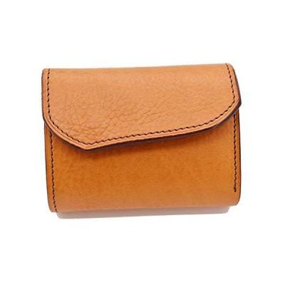 Groover Leather グルーバーレザー 財布 三つ折り ミニウォレット プレーン ナチュラルブラウン 日本製 メンズ レディース