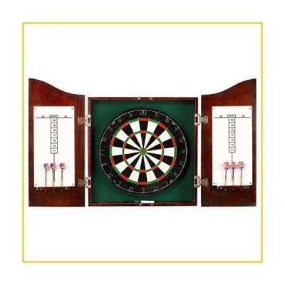 Hathaway Outlaw Free Dartboard and Cabinet Set, Cherry Finish並行輸入品