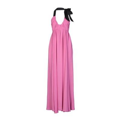 ヌメロ ヴェントゥーノ N°21 ロングワンピース&ドレス フューシャ 42 アセテート 69% / シルク 31% / ポリエステル ロングワンピ