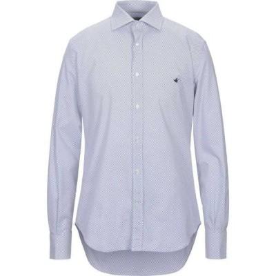 ブルックスフィールド BROOKSFIELD メンズ シャツ トップス patterned shirt White