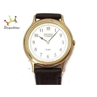 アルバ ALBA 腕時計 SUCCESS VINTAGE V301-6210 メンズ 革ベルト アイボリー 新着 20200812