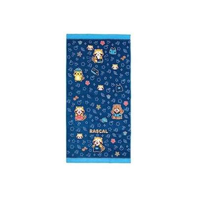 林(Hayashi) バスタオル ブルー 約60×120cm あらいぐまラスカル ラスカルデニム BK461100