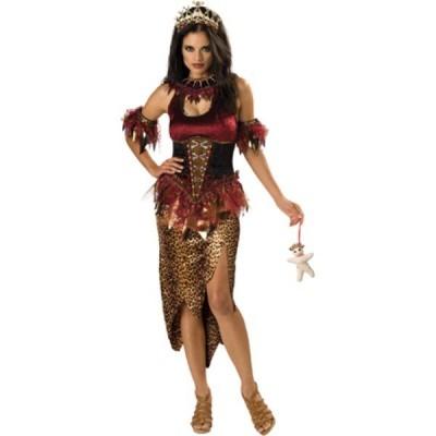 プリンセス ホラー 衣装、コスチューム ハイクオリティ 大人女性用 Voodoo Priestess