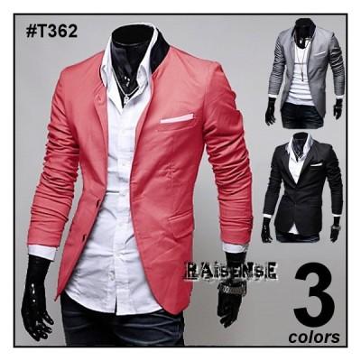 全品送料無料 期間限定 SALE ジャケット 光沢感あり ライトジャケット メンズ 3色 #T362 M便