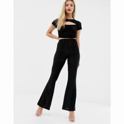 エイソス その他ボトムス・パンツ velvet devore flare trousers Black
