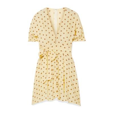 FAITHFULL THE BRAND ミニワンピース&ドレス ライトイエロー XL レーヨン 100% ミニワンピース&ドレス