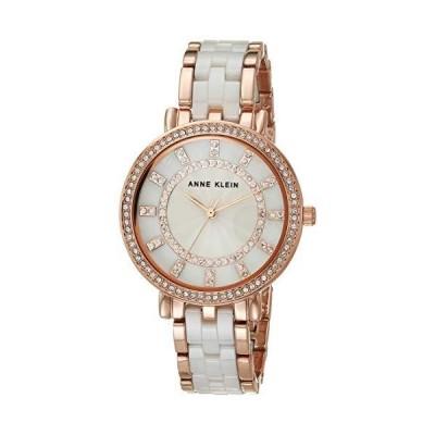 腕時計 アンクライン レディース AK/3810WTRG Anne Klein Women's Premium Crystal Accented Ceramic B