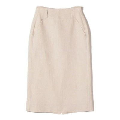 SHIPS for women / シップスウィメン ヘビーリネンリベットスカート