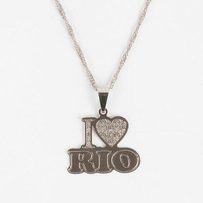 I LOVE RIO シルバープレートネックレス