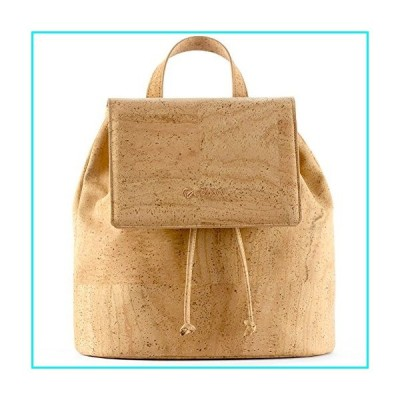 Corkor Vegan Backpack Purses for Women| Cruelty Free Cork Handbag Natural【並行輸入品】