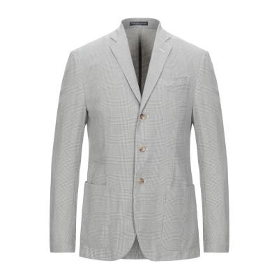 POLO RALPH LAUREN テーラードジャケット ライトグレー 48 コットン 57% / 麻 31% / シルク 12% テーラードジャケ