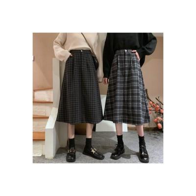 【送料無料】言葉 スカート 秋冬 日 と セーターの女性 ハイウエスト 着やせ 羊毛 | 364331_A64459-0004570