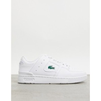 ラコステ レディース スニーカー シューズ Lacoste Court Cage panel sneakers in triple white Wht/wht