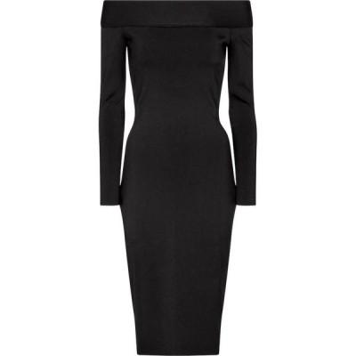 ヴィクトリア ベッカム Victoria Beckham レディース ワンピース ワンピース・ドレス Stretch-knit off-shoulder dress Black