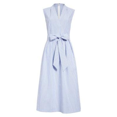 ワンナインオーワン ワンピース トップス レディース Surplice Seersucker Dress Blue- White Seersucker