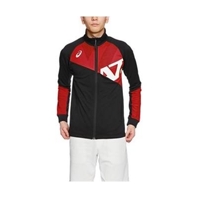 アシックス asics アシックス トレーニングウエア A77 トレーニングジャケット メンズ XAT719 9023 ブラック/レッド Mサイズ
