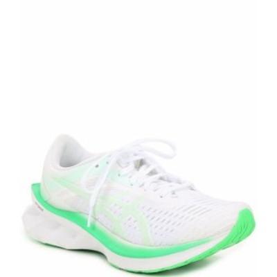 アシックス レディース スニーカー シューズ Women's NOVABLAST Running Shoes White/Mint Tint
