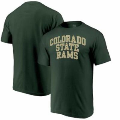 Alta Gracia アルタ グラシア スポーツ用品  Alta Gracia (Fair Trade) Colorado State Rams Green Arched Wordmark T-Shirt
