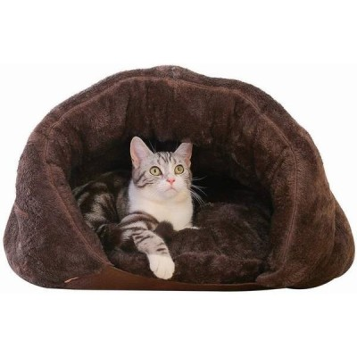 猫 ベッド 冬 ペット用寝袋 猫 ベッド ドーム 冬用 あたたかい 洗える 犬 ベッド 猫ハウス かわいい ペット ベッド マット 兼用 ソフト 取り外せる