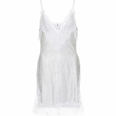 クリストファー ケイン Christopher Kane レディース ワンピース ミニ丈 ワンピース・ドレス bridal lace crystal mesh minidress White