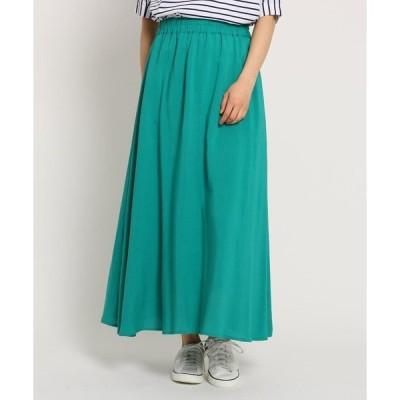 Dessin / デッサン 【Lサイズ、Sサイズあり・洗える】麻レーヨンフレアマキシスカート
