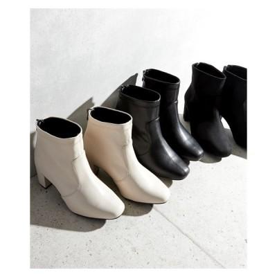 大きいサイズ レディース プレーン ストレッチ ショート ブーツ 4Eワイズ 23.0〜23.5/24.0〜24.5/24.5〜25.0/25.0〜25.5cm ニッセン nissen