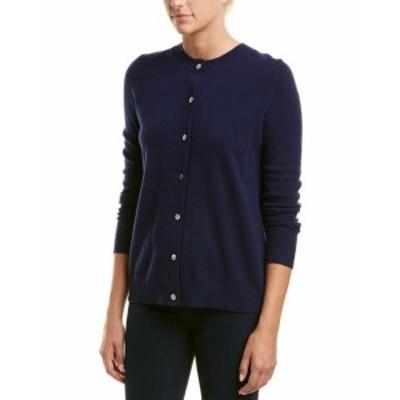 ファッション トップス Incashmere Inverted Pleat Cashmere Cardigan Xs Blue