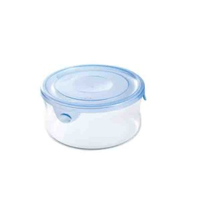 食品保存容器 密閉 蓋付き 冷蔵庫 電子レンジ対応 耐熱ガラス 丸型 390ml