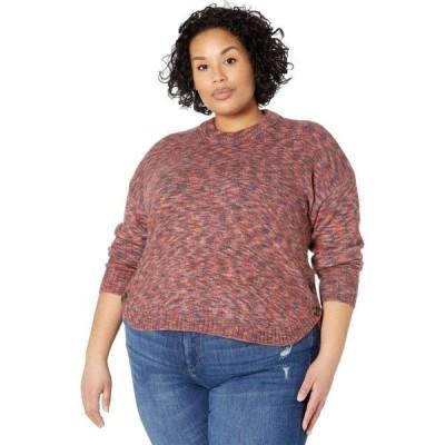 メイドウェル Madewell レディース ニット・セーター 大きいサイズ トップス Plus Size Space Dye Demi Side Button Pullover Space Dye Sangria