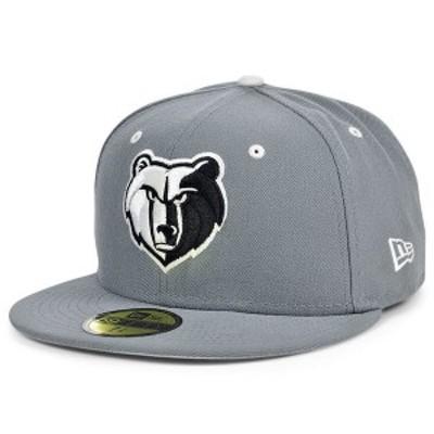 ニューエラ メンズ 帽子 アクセサリー Memphis Grizzlies Storm Black White Logo 59FIFTY Cap Storm Grey