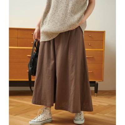 【ビス/ViS】 【Dickies】麻混フレアロングスカート
