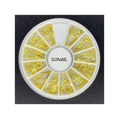 SONAIL(ソネイル) ネイルアクセサリー  FY000077 夜空スタッズアソート ゴールド