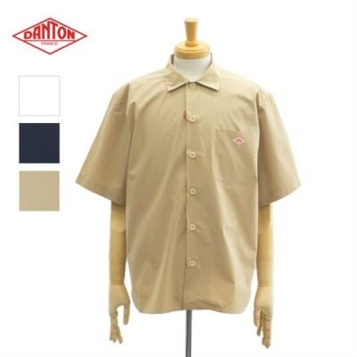 ダントン JD-3609MSA レギュラーカラー 半袖シャツ コットンポプリン 無地  メンズ DANTON